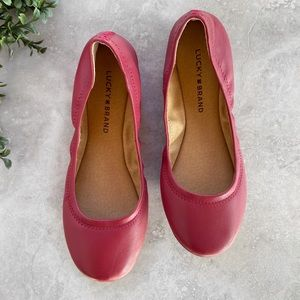 New Lucky Brand Red Flat Shoes